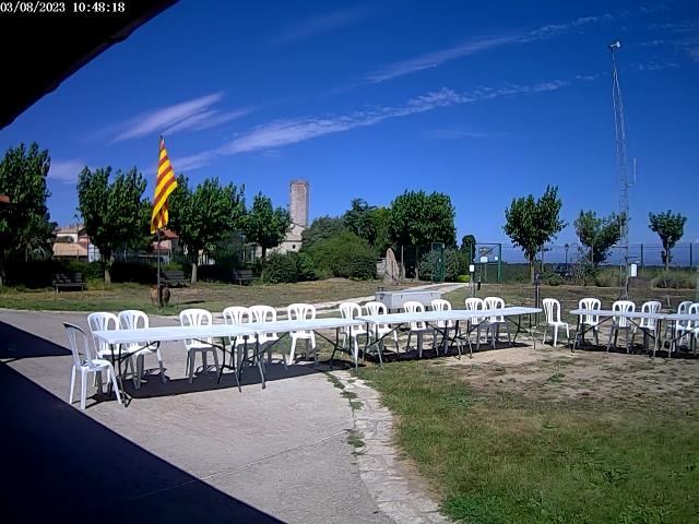 Webcam Observatori de Pujalt (cliqueu per ampliar imatge)