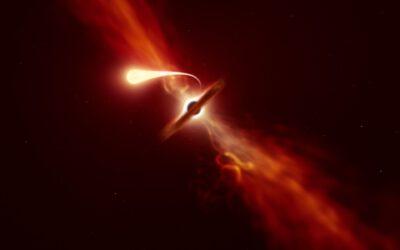 Els astrònoms veuen com una estrella s'espaghetifica per un forat negre